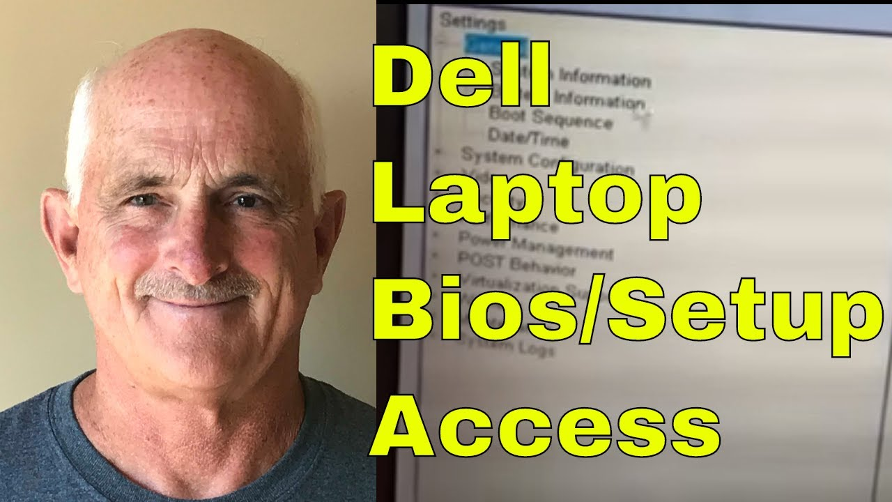 How to get into system setup or BIOS on a Dell laptop