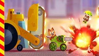 Мультик игра - машинки участвуют в сражениях. Веселые аварии машинок. Мультики про войну и сражения