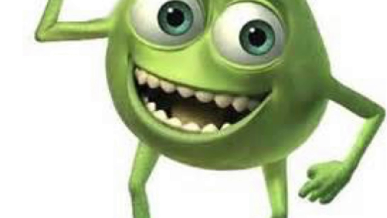 A Single Photo Of Mike Wazowski With Two Eyes Staring At ...
