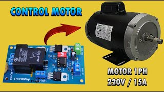 Hoe de controle van een motor 1ph 220vac/15a zonder schakelaar || met een kaartje gecontroleerd door attiny85