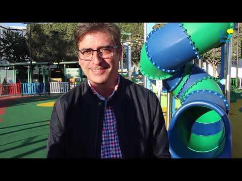 Inauguración parque infantil junto a oficina de información
