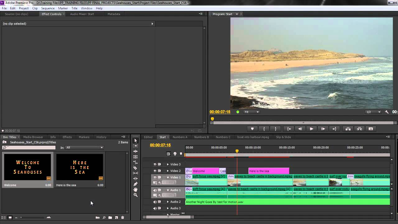 Premiere Pro CS6 Techniques: 36 Titles 4: Exporting Titles - YouTube