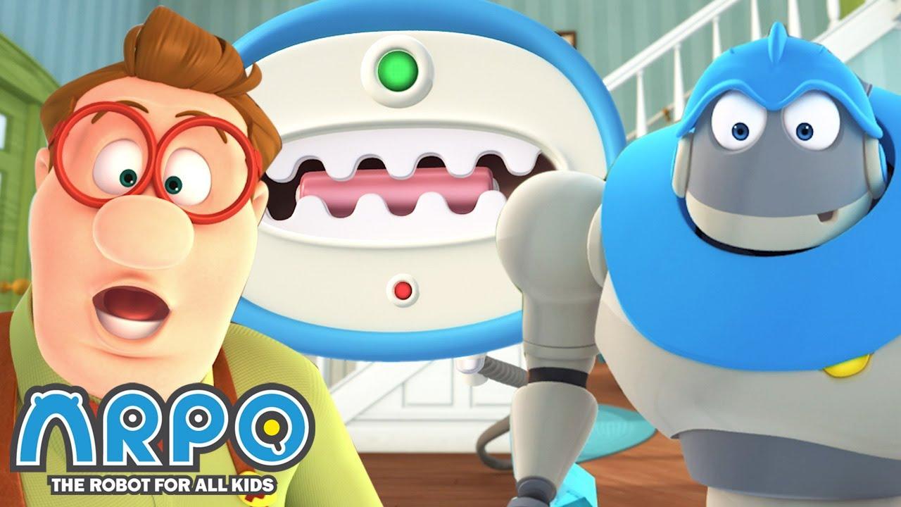 EVIL MACHINE INVASION!  - ARPO the Robot | 에피소드를보고 | Cartoons for Kids | Robot Animation