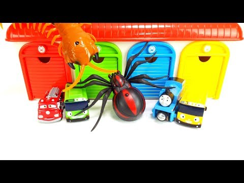 Thomas & Friends, Disney Pixar Cars, Tayo Bus Garage, Centipede. Spider Insect Monster Toy Story