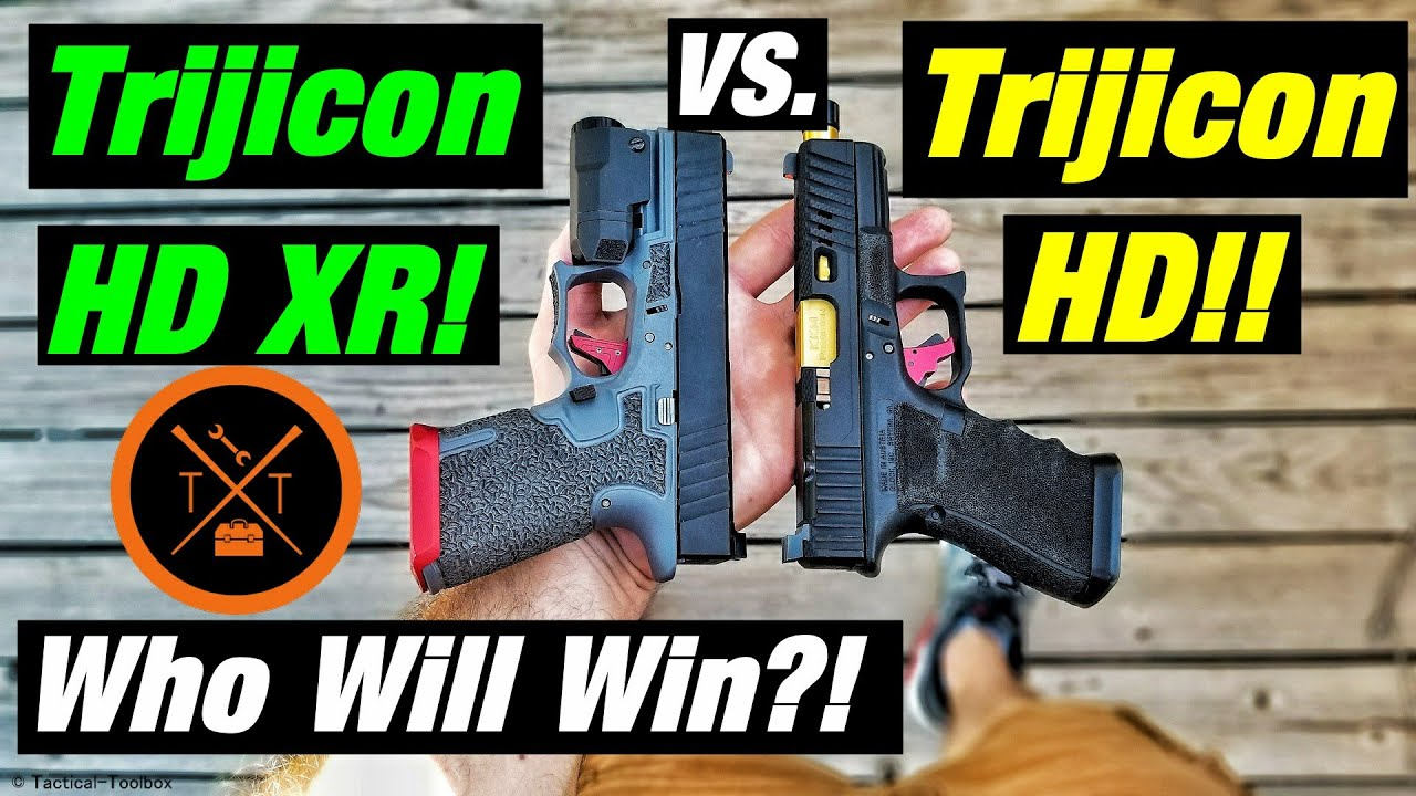 best night sights for home defense trijicon hd xr vs hd  [ 1280 x 720 Pixel ]