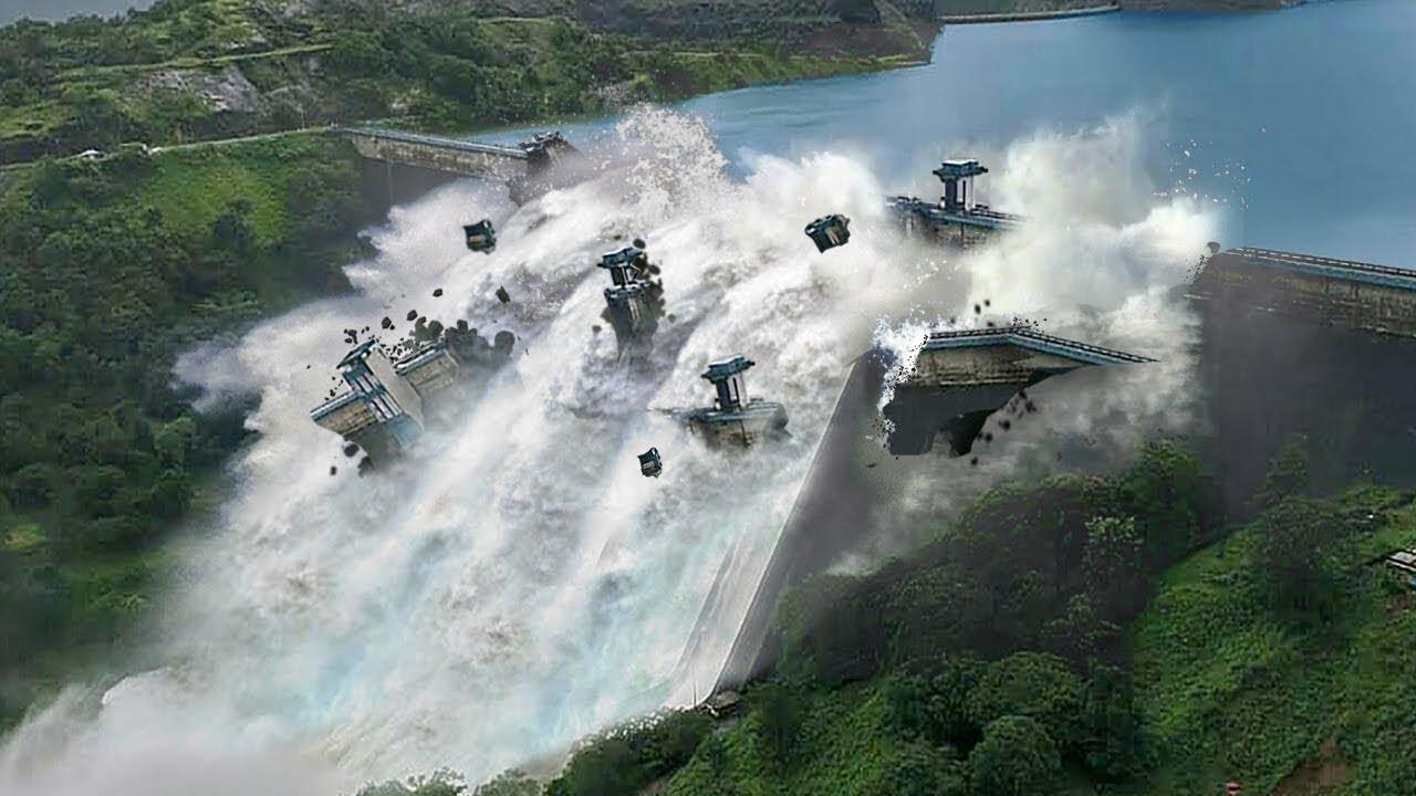 10 Обвалов Плотины Снятых на Камеру