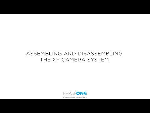 Support | Assembling and disassembling the XF Camera system | Phase One