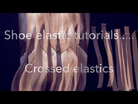 Single and Double shoe elastic tutorial.