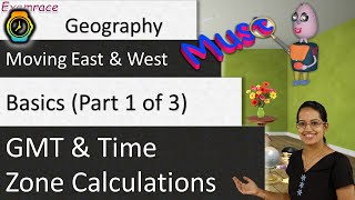 ???? GMT and Time Zone Calculations (Moving East and West) - Basics (Part 1 of 3)