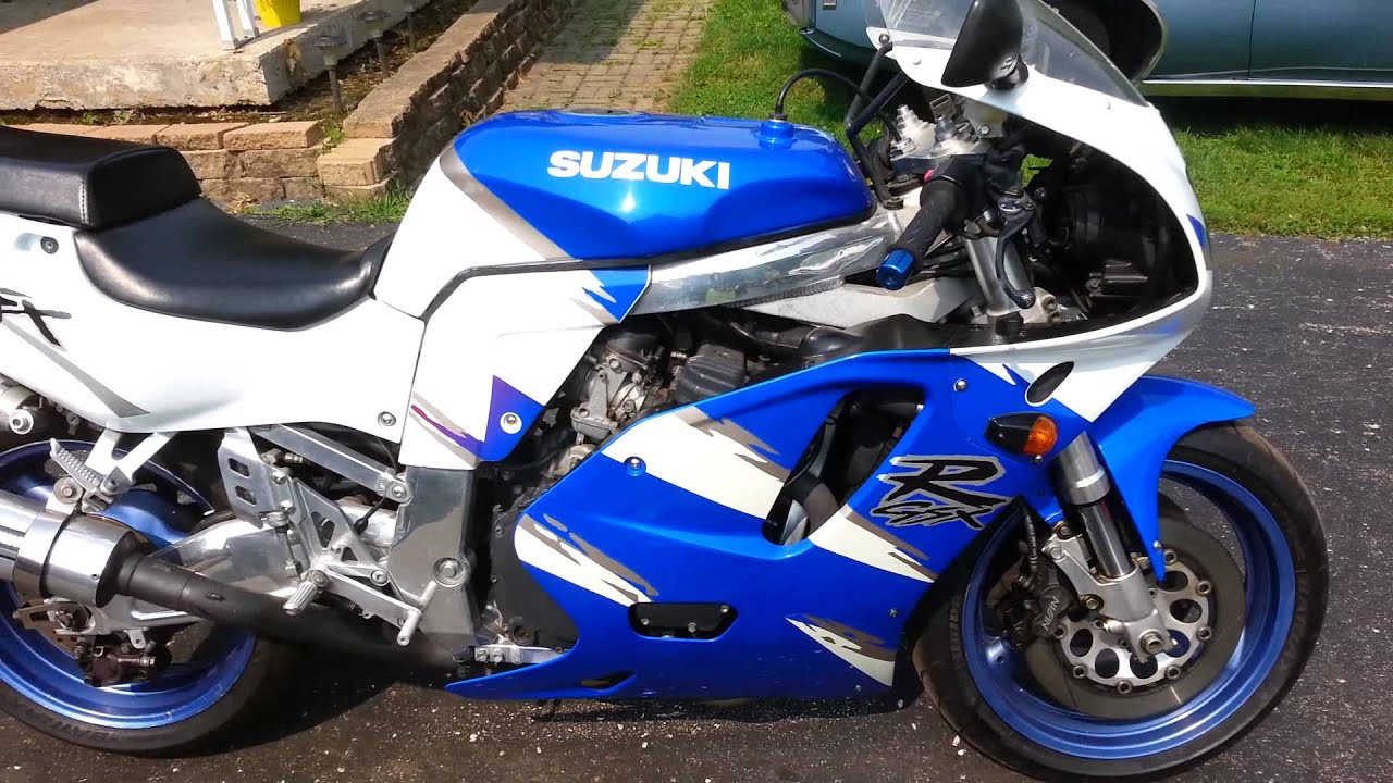 1993 gsxr 750 bad trans - YouTube