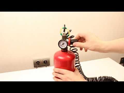 видео: Сжатый воздух из огнетушителя!