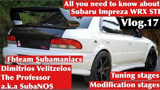 Subaru Impreza WRX and STI. All modification stages and tuning solutions by Subanos. Vlog.17