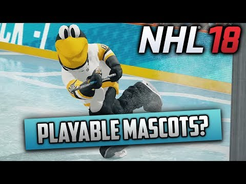 NHL 18 - THREES TRAILER REACTION | PLAYABLE MASCOTS?