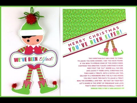 photo regarding You've Been Elfed Printable named Youve Been Elfed Letter #2 - Working day #1