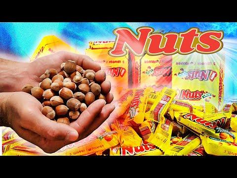 СКОЛЬКО ОРЕХОВ в 100 БАТОНЧИКАХ Nuts ?!