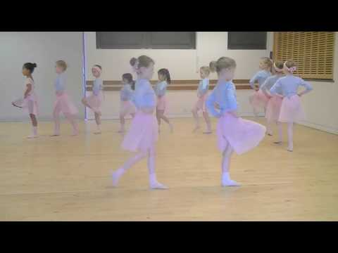 Ballet class, warm up - primary age 5-6 years olds.