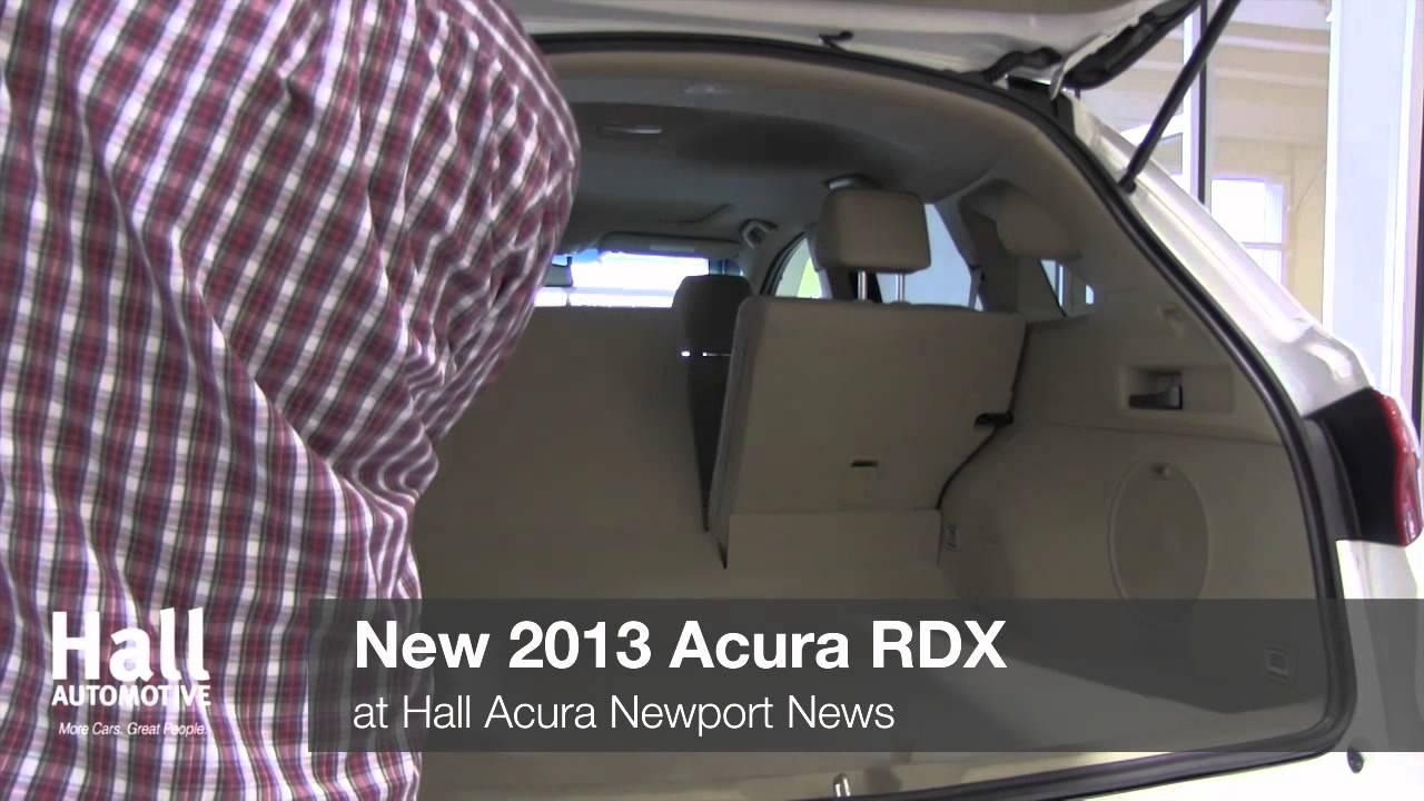 new 2013 acura rdx video at hall acura newport news virginia acura dealer youtube. Black Bedroom Furniture Sets. Home Design Ideas