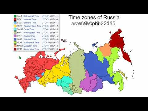 Time Zones In Russia Map.Changes Of Time Zones Of Russia 2014 2016 Youtube