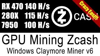 Crazy Fast Zcash Miner V6 For Windows (Tested on rx470 280x 7950)
