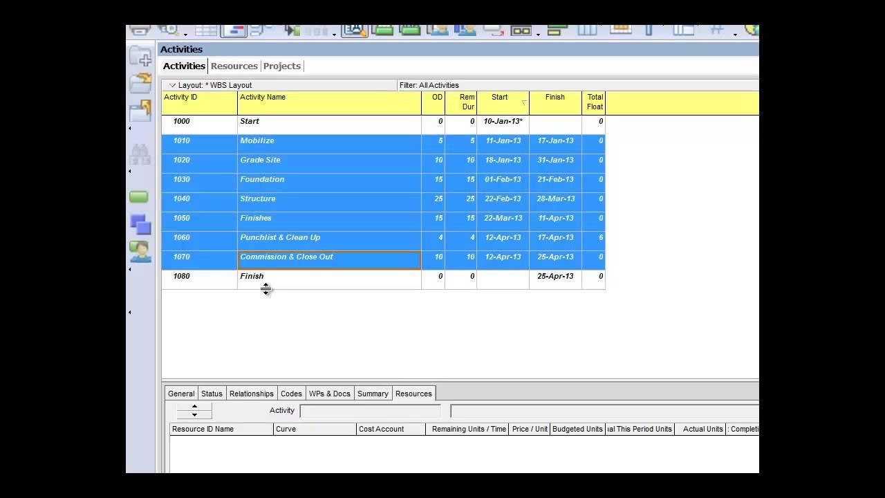 Primavera p6 tutorial cost loading livinlook primavera p6 tutorial cost loading baditri Image collections