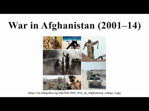 War in Afghanistan (2001–14)
