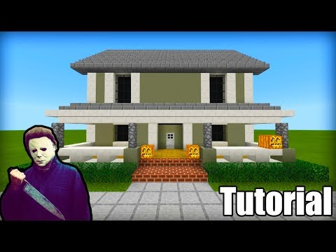 """Minecraft: How To Make Mike Myers House """"Halloween"""""""