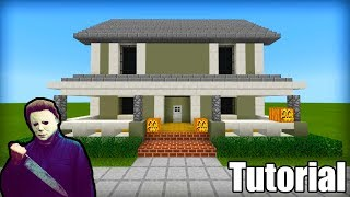 "Minecraft: How To Make Mike Myers House ""Halloween"""