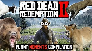 Red Dead Redemption 2 - Arthur vs the Wild - Funny and Fails Compilation
