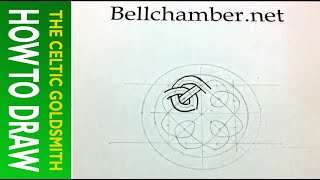 How To Draw Celtic Knots 21- Celtic Cross (circular) From Book Of Kells 5r 2/3