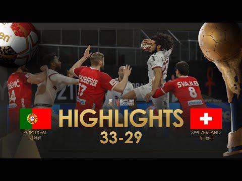 Highlights:Switzerland - Portugal  Main Round  27th IHF Men's Handball World Championshin  Egypt2021