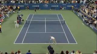 Novak Djokovic imitates John McEnroe - US Open 2009 (tennis imitation)
