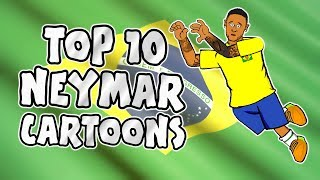 🇧🇷 NEYMAR: TOP 10 Cartoons 🇧🇷