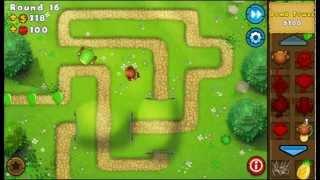 Bloons Tower Defense 5 Mobile: Monkey Lane - Hard