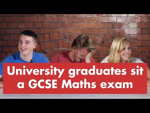 University graduates sit a GCSE Maths exam