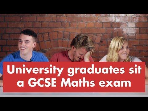 University graduates sit a GCSE Maths exam