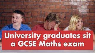 University graduates sit a GCSE Maths exam thumbnail