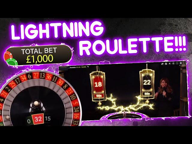 £2,000 vs Lightning Roulette!!