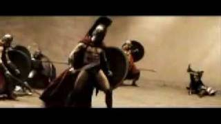 300-Amazing Fighting Scene  (Let the bodies hit the floor)