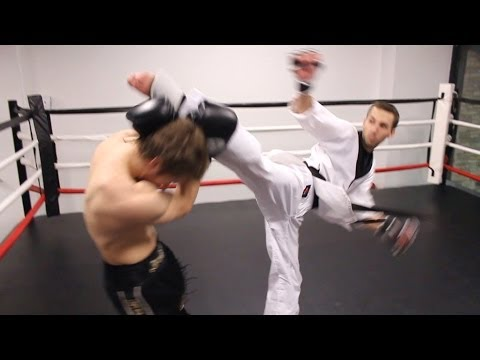 Taekwondo vs Muay Thai 2014  Martial Arts Fight Scene Real Contact Hits