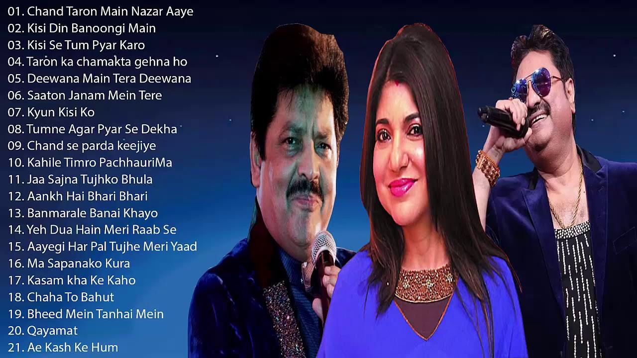 Best Of Udit Narayan, Alka Yagnik and Kumar Sanu Songs // Evergreen Hindi Hits - Awesome Duets