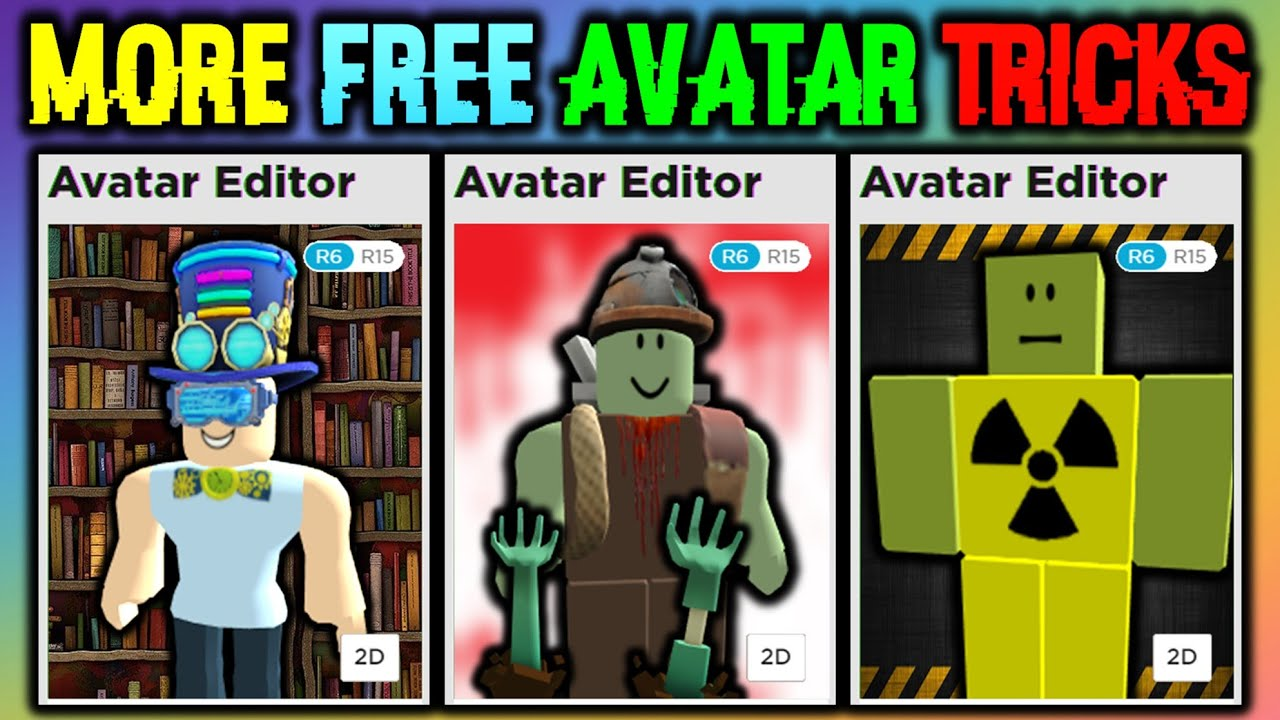 Cool Free Avatar Roblox These Avatar Tricks Cost 0 Robux Roblox Youtube