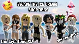 Kabur dari toko ice cream 🍦🍧    roblox Obby Indonesia