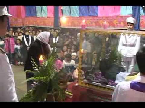 lễ an táng cha Giuse Vũ Văn Đại 4 đền thánh Sa Châu làng Gòi Giao Châu