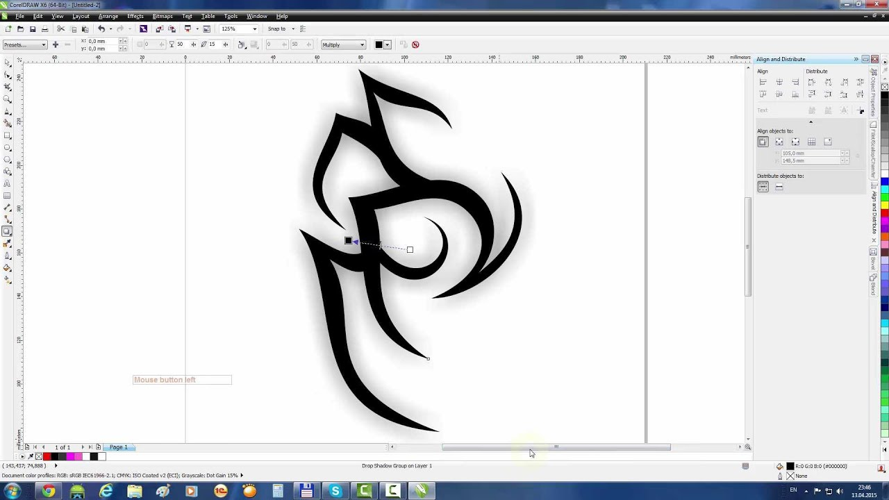 how to draw to scale in coreldraw