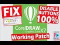 How to fix Corel Draw X7, can't Save, Export, Print, Copy, Paste, Disable Buttons