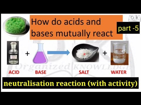 Acid bases and salt , neutralisation reaction.how acid and base mutually react