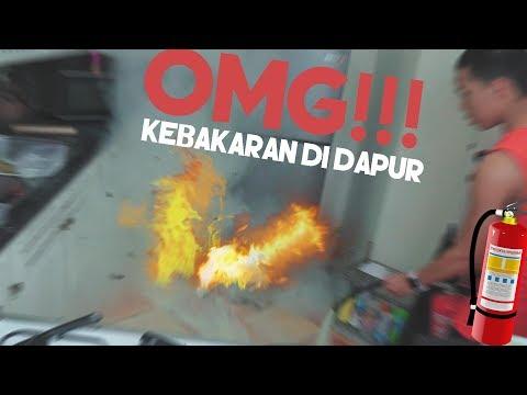 Bikin Api Unggun di Dapur **Kerja Sangat Bodoh** | Masak Burger