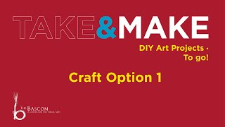 Take and Make Lesson 1: Learning About Water, Craft Option 1