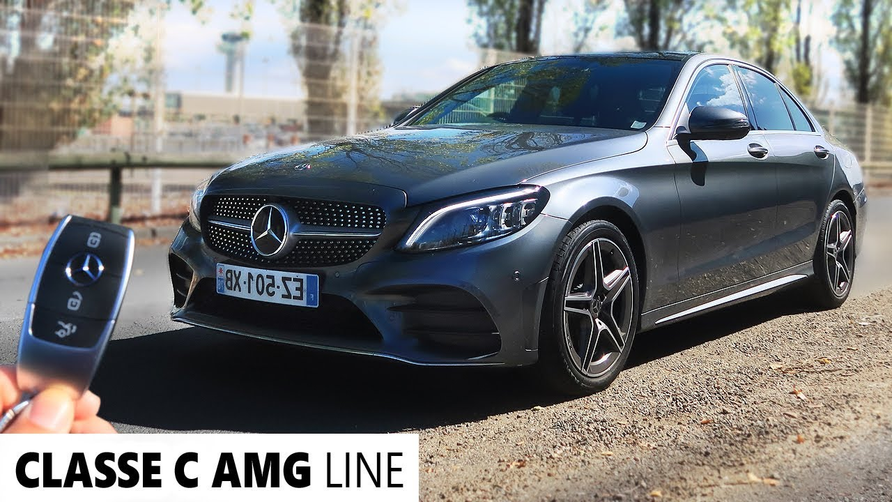 mercedes classe c 2019 amg line 1 500 km d 39 autonomie. Black Bedroom Furniture Sets. Home Design Ideas