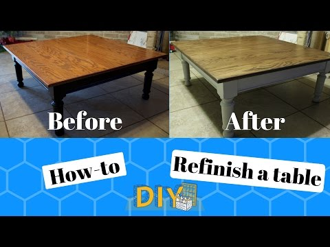 how-to:-refinish-a-table-|-diy-|-before-and-after
